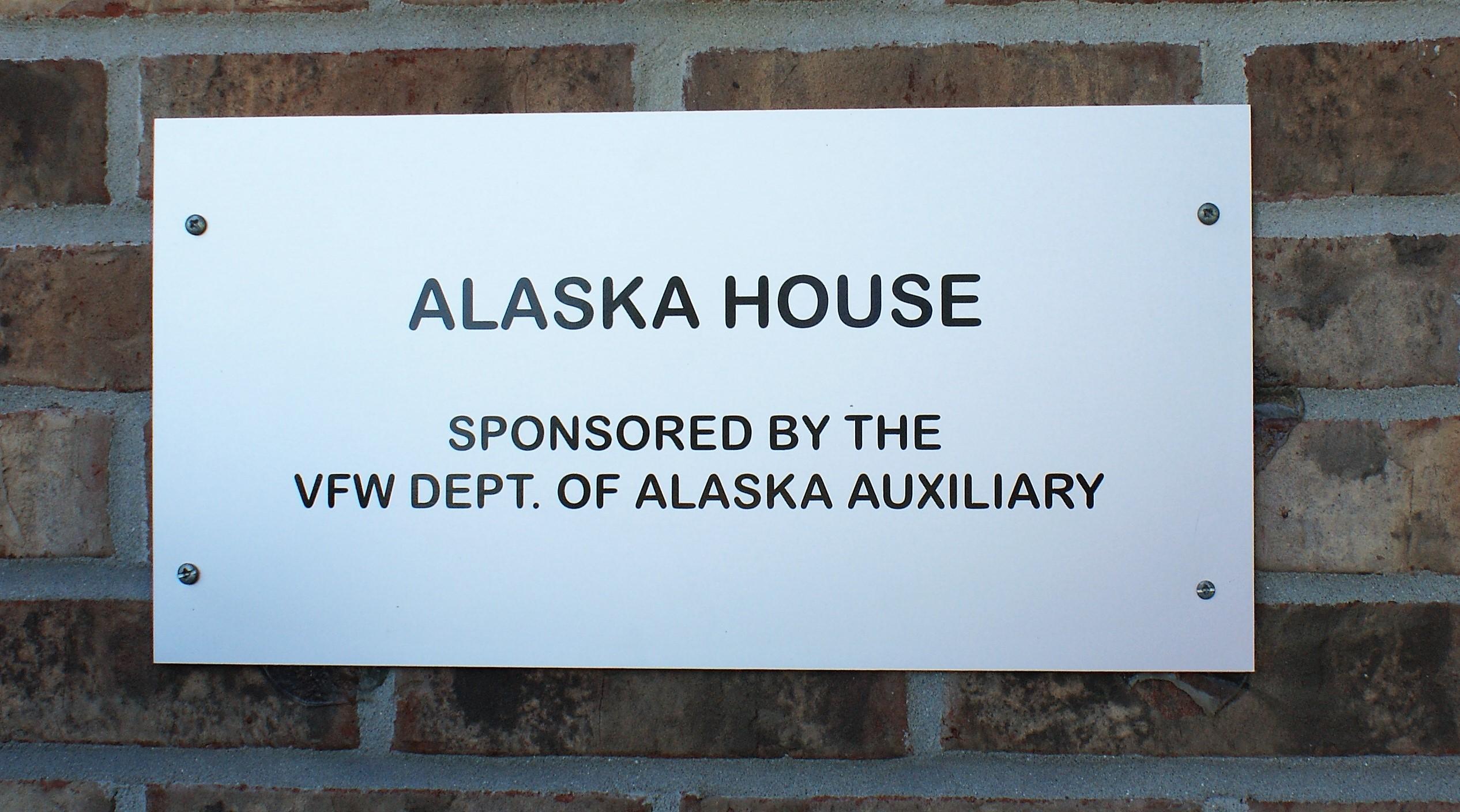 Alaska House Sign