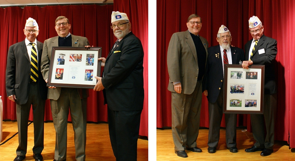 Left picture: Mike McGrath, Frederick Puffenberger and Dave Ouellette. Right picture: Frederick Puffenberger, Warren George, Mike McGrath