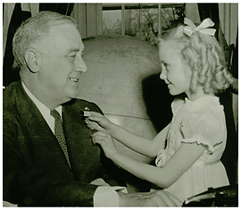 Historicl Photo of Buddy Poppy Child and President
