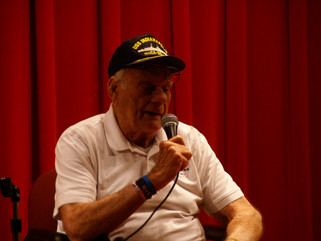 WWII Vet shares powerful survival story during Veterans Day Program