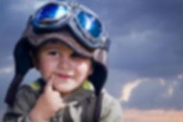 boy pretend pilot