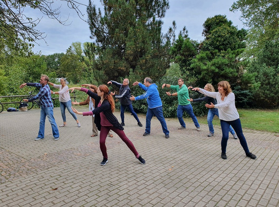 """Gruppe """"Dance In Dance Out""""Rombergpark"""