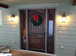 new front door w/sidlites