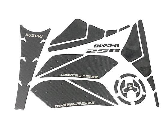Protector de tanque + pierneras stop grip Suzuki Gixxer 150 y 250 Fi Naked
