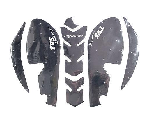 Protector de tanque + pierneras con stop grip Tvs Apache RTR 200