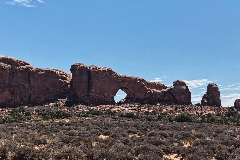 Arches national Park, 15 minutes from our free camping in Moab, Utah