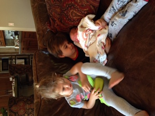 Nora, Theo and Baby Alea