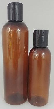Amber PET Bottle - Disc Cap