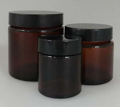Amber Glass Jar (Pack of 12)