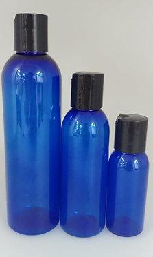 Blue PET Bottle - Black Disc Cap