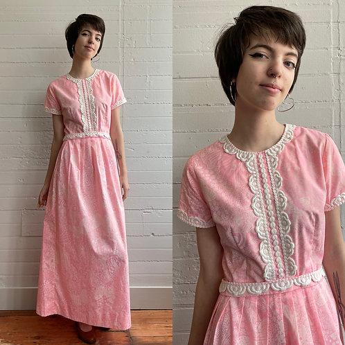 1970s Pink Lily Pulitzer Maxi Dress - Small / Medium