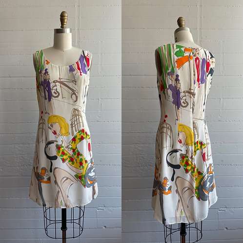 1990s Abstract Mini Dress - Small