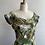 Thumbnail: 1950s Floral Wiggle Dress - Medium