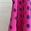 Thumbnail: 1980s Designer Valentino Dress Pink Polka Dots - Small