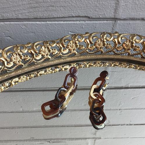 Tortoise Chain Link Earrings