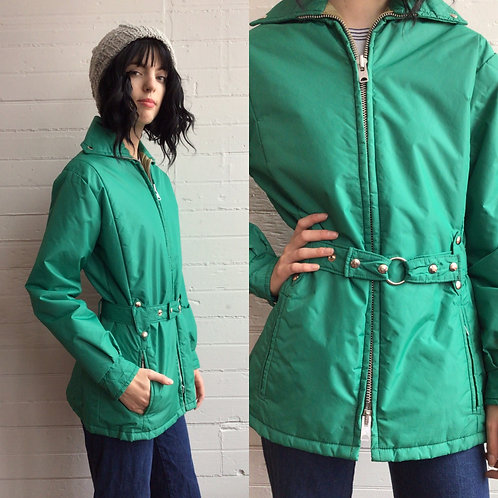 1970s Teal Ski Jacket - Medium