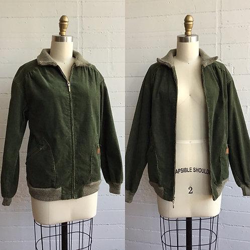 1970s Forest Green Corduroy Jacket - Medium
