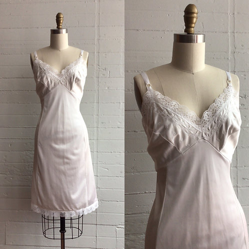1980s White Slip Dress - Medium / Large