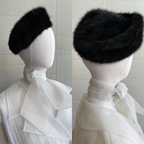 1960s Angora Fur Hat