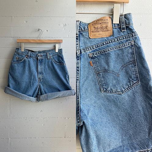 """1990s Orange Tab Levi Jean Shorts - 30"""" Waist"""