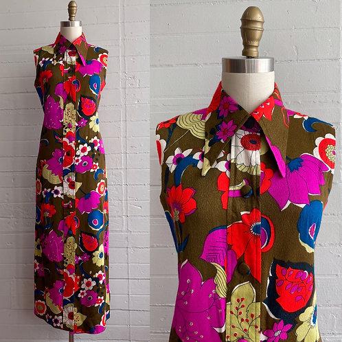 1970s Hawaiian Maxi Dress - Small / Medium