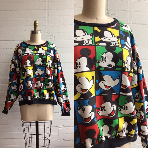 1980s Mickey Mouse Comic Book Sweatshirt - Large