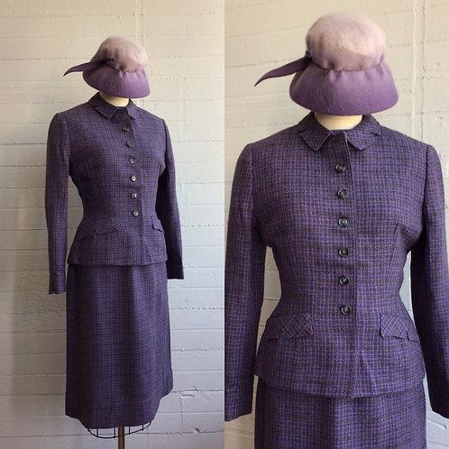 1960 Four Piece Purple Suit Set - Xsmall