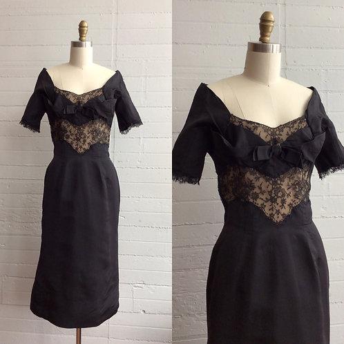 1950s Designer Philip Hulitar Wiggle Dress - Small / Medium