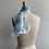 Thumbnail: 1970s Blue Floral Scarf