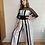 Thumbnail: 1980s Stripe Cage Top Jumpsuit - Medium / Large
