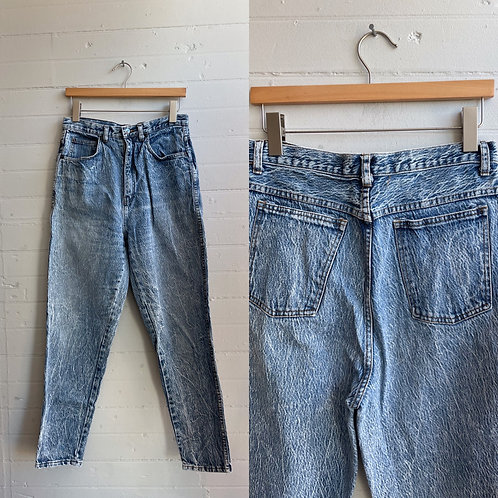 1980s Acid Wash Jeans - Medium Large