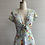 Thumbnail: 1970s Blue Floral Summer Dress - Small