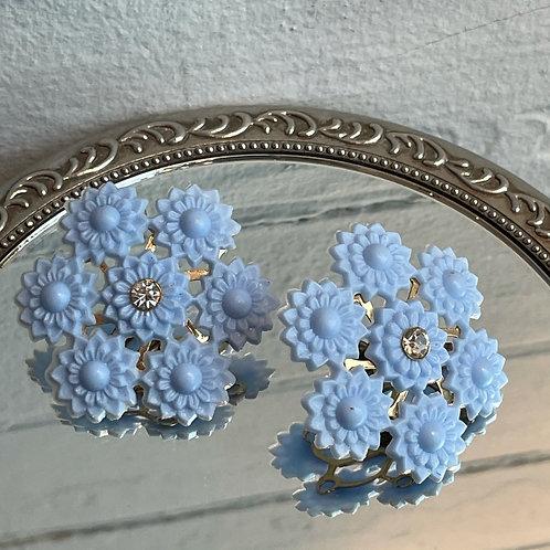 1960s Periwinkle Stud Earrings