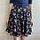Thumbnail: 1990s Floral Navy Mini Skirt - Small