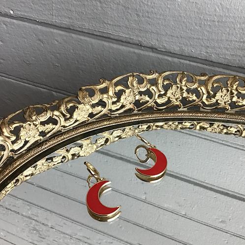 Red Moon Earrings