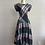 Thumbnail: 1980s Plaid Cotton Day Dress - Small