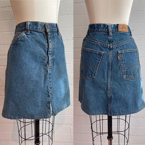 1990s Orange Tab Levi Mini Skirt - Medium