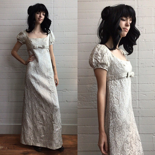 1960s / 70s Lurex Maxi Gown - Small