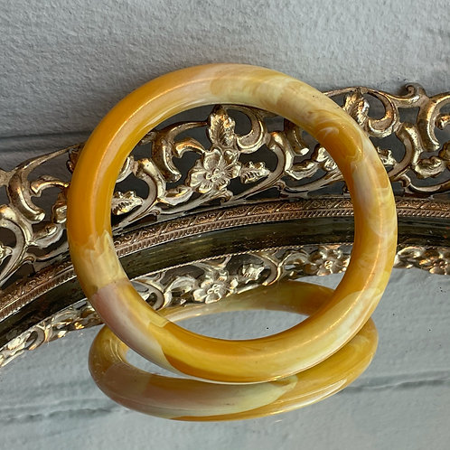 Vintage Marbled Yellow Bangle