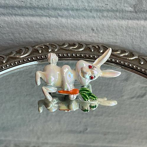 Vintage Rabbit Brooch Pin