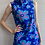 Thumbnail: 1970s Blue Floral Hawaiian Maxi Dress - XXS / XSmall