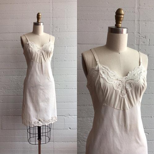 1960s White Slip Dress - Medium / Large
