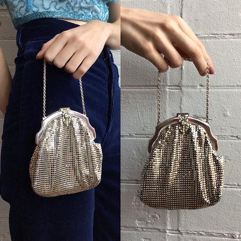 Vintage Chain Mail Silver Handbag