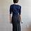 Thumbnail: 90s Rayon Midi Skirt - Small