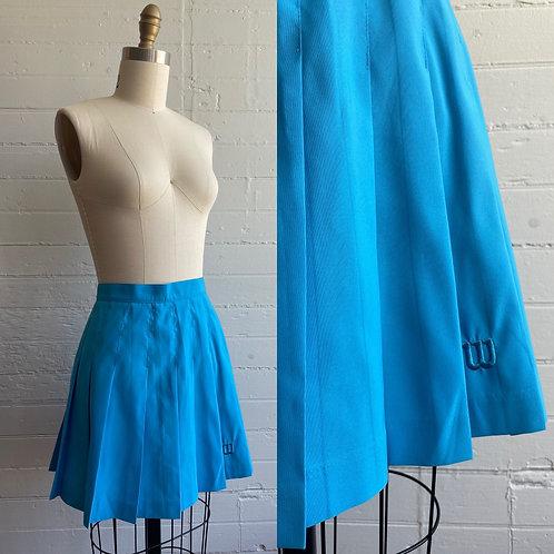 1990s Blue Mini Tennis Skirt - Medium / Large