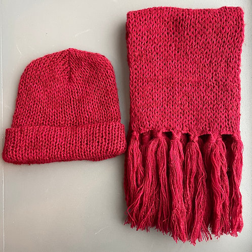 1970s Deadstock Hat and Scarf Set