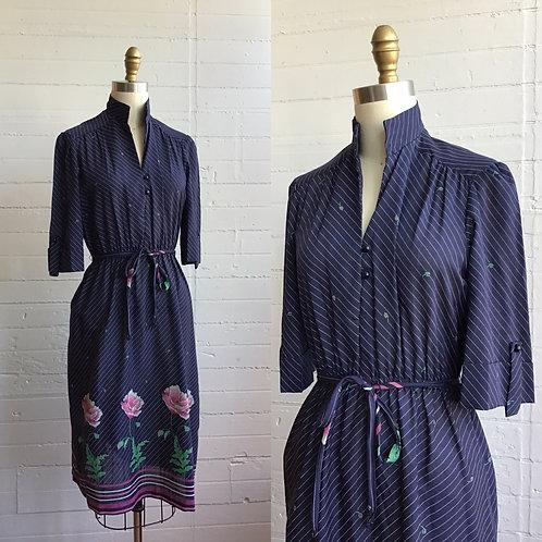 1970s Peony Dress - XSmall