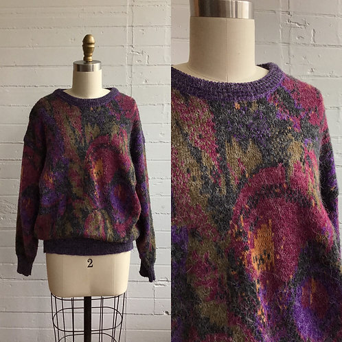 1980s Jewel Tone Sweater - Medium / Large