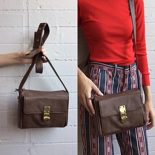 1990s Brown DKNY Crossbody Bag