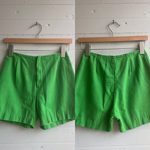 1970s Lime Green Shorts - XS / Small